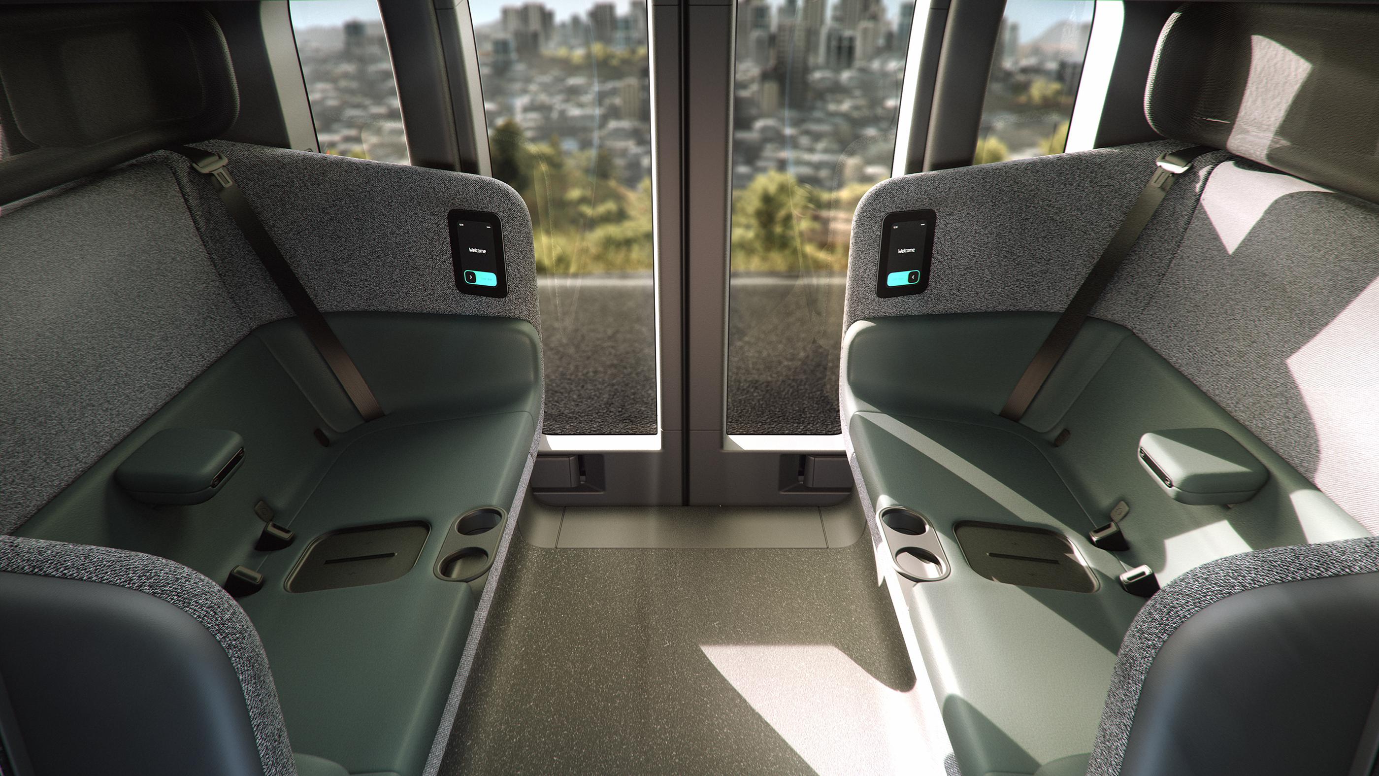 Zoox, voiture autonome intérieur