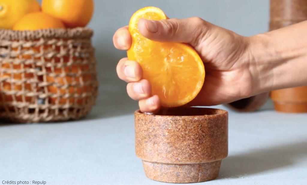 La tasse en peau d'agrume de Repulp bientôt disponible en prévente